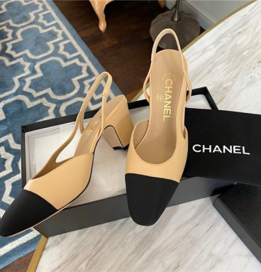 chanel slingback sandals replica shoes