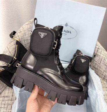 prada boots with bags