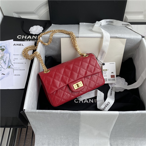 chanel reissue bag red