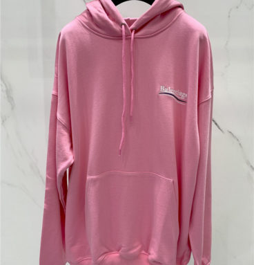 balenciaga embroidered logo letter hoodie